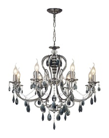 Luna Crystal Ceiling Lights Diyas Contemporary Chandeliers