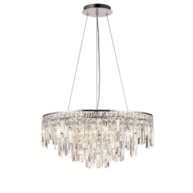Maddison Crystal Ceiling Lights Diyas Contemporary Crystal Ceiling Lights