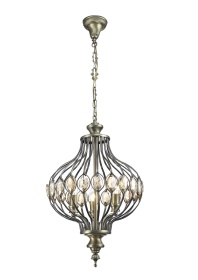 Marisa Crystal Ceiling Lights Diyas Single Crystal Pendants
