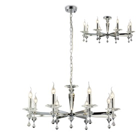 Renzo Crystal Ceiling Lights Diyas Contemporary Crystal Ceiling Lights
