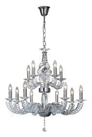 Santo Crystal Ceiling Lights Diyas Contemporary Chandeliers