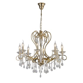 Vela Crystal Ceiling Lights Diyas Contemporary Chandeliers