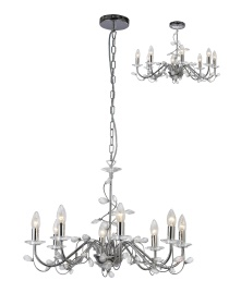 Willow Crystal Ceiling Lights Diyas Contemporary Chandeliers
