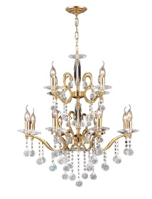 Zinta Crystal Ceiling Lights Diyas Contemporary Chandeliers