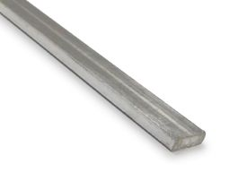 DA900010  2.5m Flat Bar Anodized Silver Aluminium Profile 12 x 3mm