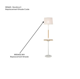 MS5465/WH  Nordica II Shade For M5465