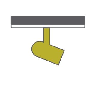 Abri 40 Tracks Luminaires Dlux 30-60W Track Fitting