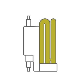 Super Mini 6U Compact Fluorescent Luxram Spiral & U-Tube
