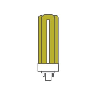 Bona-T Fluorescent w/o Ballast Luxram Triple Turn